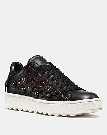Coach Floral-Embroidered Low-Top Sneakers Really 7PeX7e3