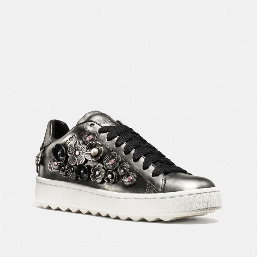 glitter lace-up sneakers - Metallic Coach