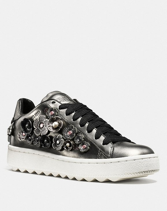 glitter lace-up sneakers - Metallic Coach o8QdYDxqG