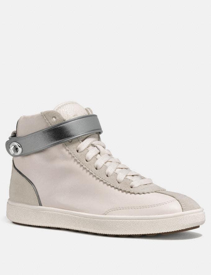 Coach C213 High Top Sneaker Chalk CYBER MONDAY SALE Women's Sale 50 Percent Off