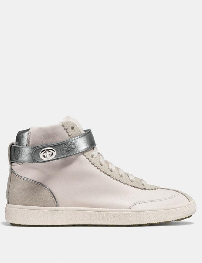 Coach C213 High Top Sneaker Chalk CYBER MONDAY SALE Women's Sale 50 Percent Off Alternate View 1