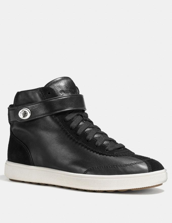 Coach C213 High Top Sneaker Black CYBER MONDAY SALE Women's Sale Shoes