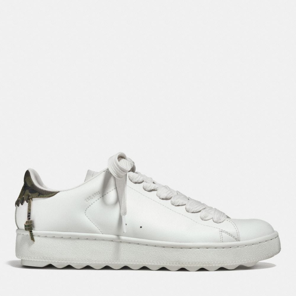 Leather Low Top Sneaker - Alternate View A1