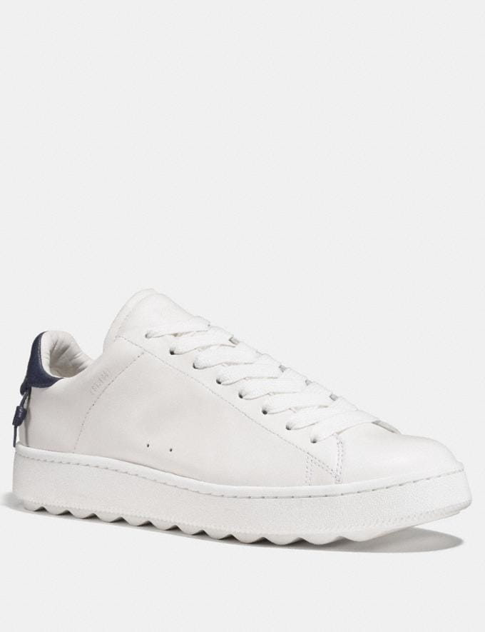 Coach C101 Low Top Sneaker White/Navy Men Shoes Sneakers