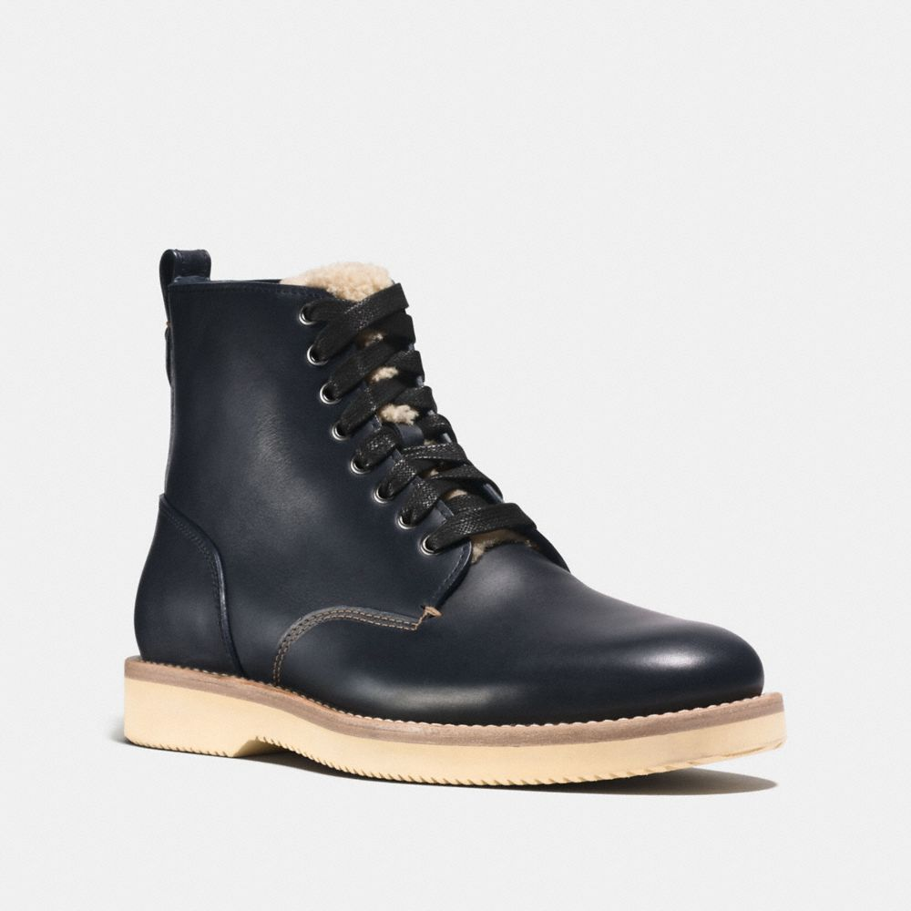 Coach Derby Boot With Shearling