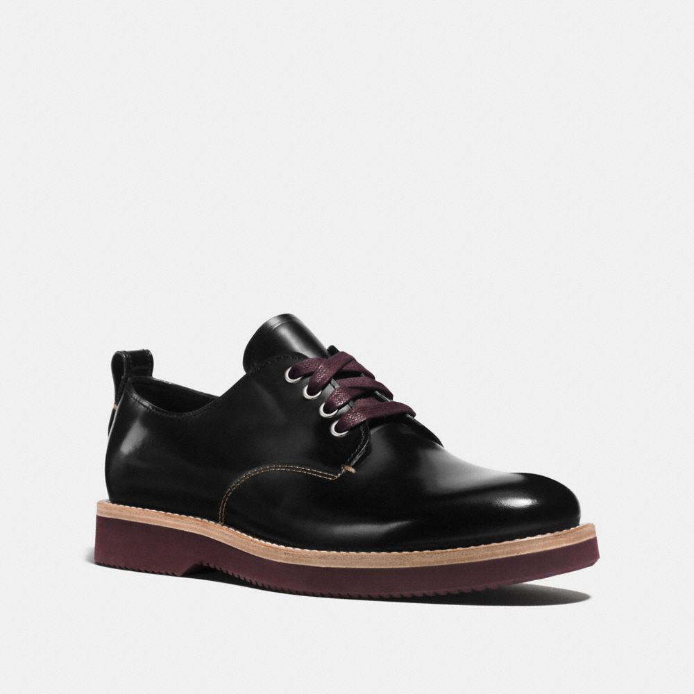 Coach Leather Oxford Booties