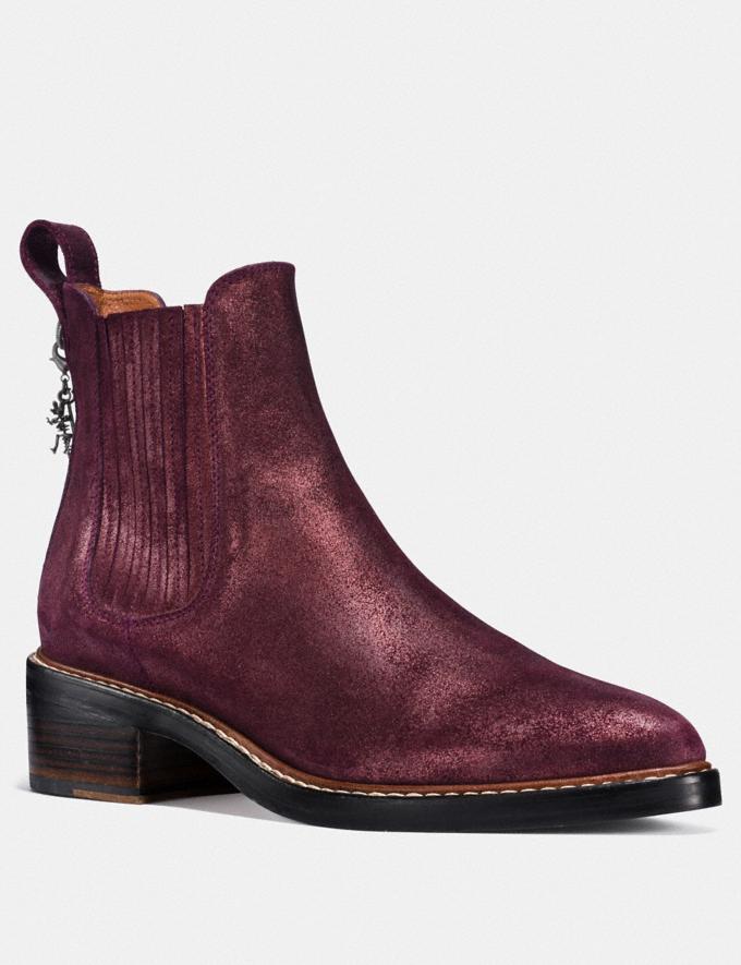 Coach Bowery Chelsea Boot Bordeaux Women Shoes Boots