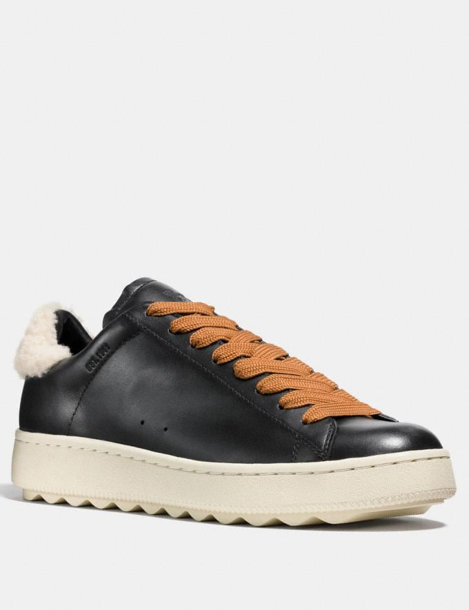 Coach C101 With Shearling Black/Natural Men Shoes Sneakers