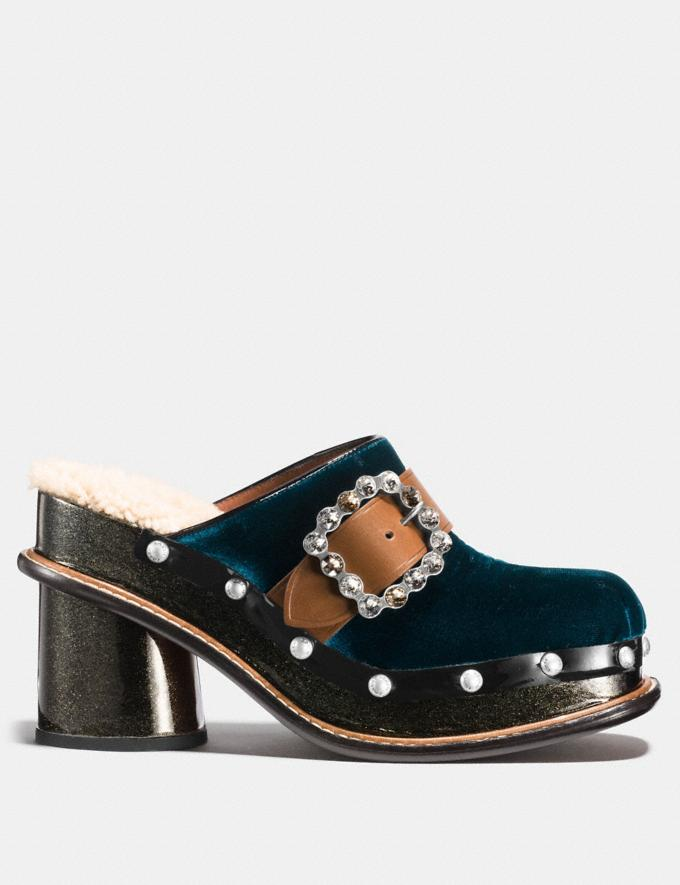Coach Clog Slide With Glitter Heel Peacock  Alternate View 1