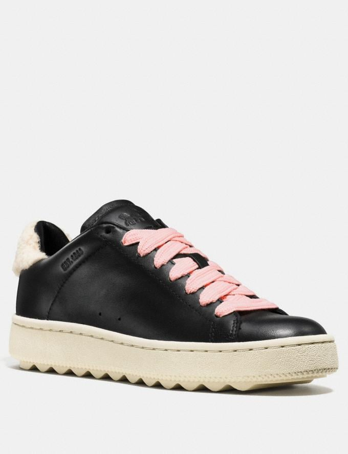 Coach C101 With Shearling Black SALE Women's Sale Shoes