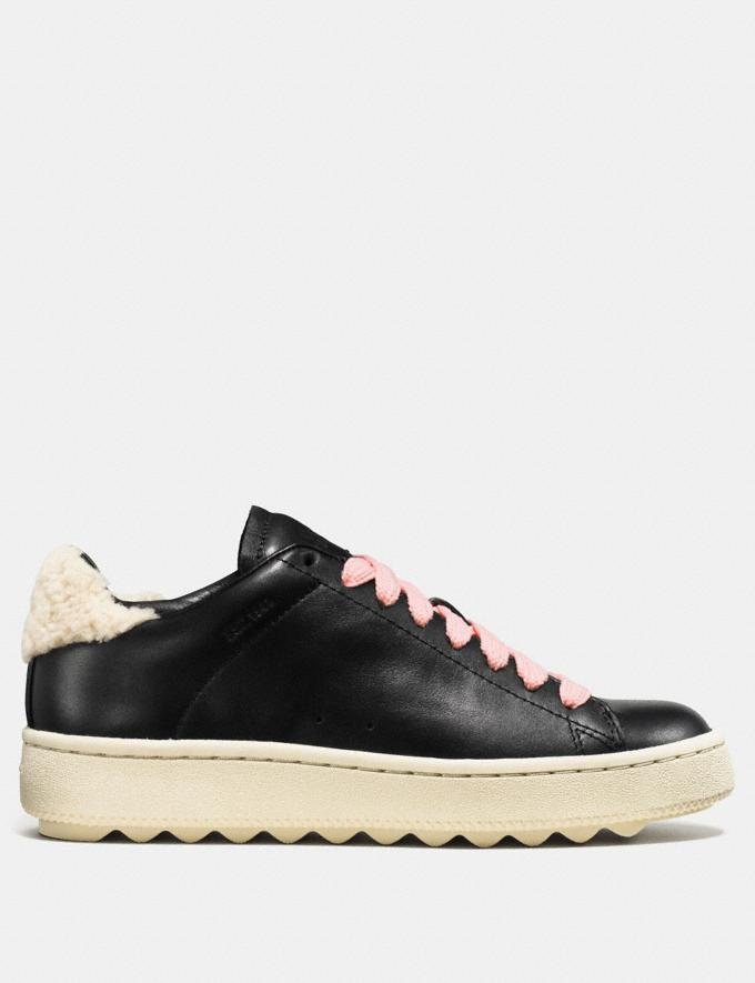 Coach C101 With Shearling Black SALE Women's Sale Shoes Alternate View 1