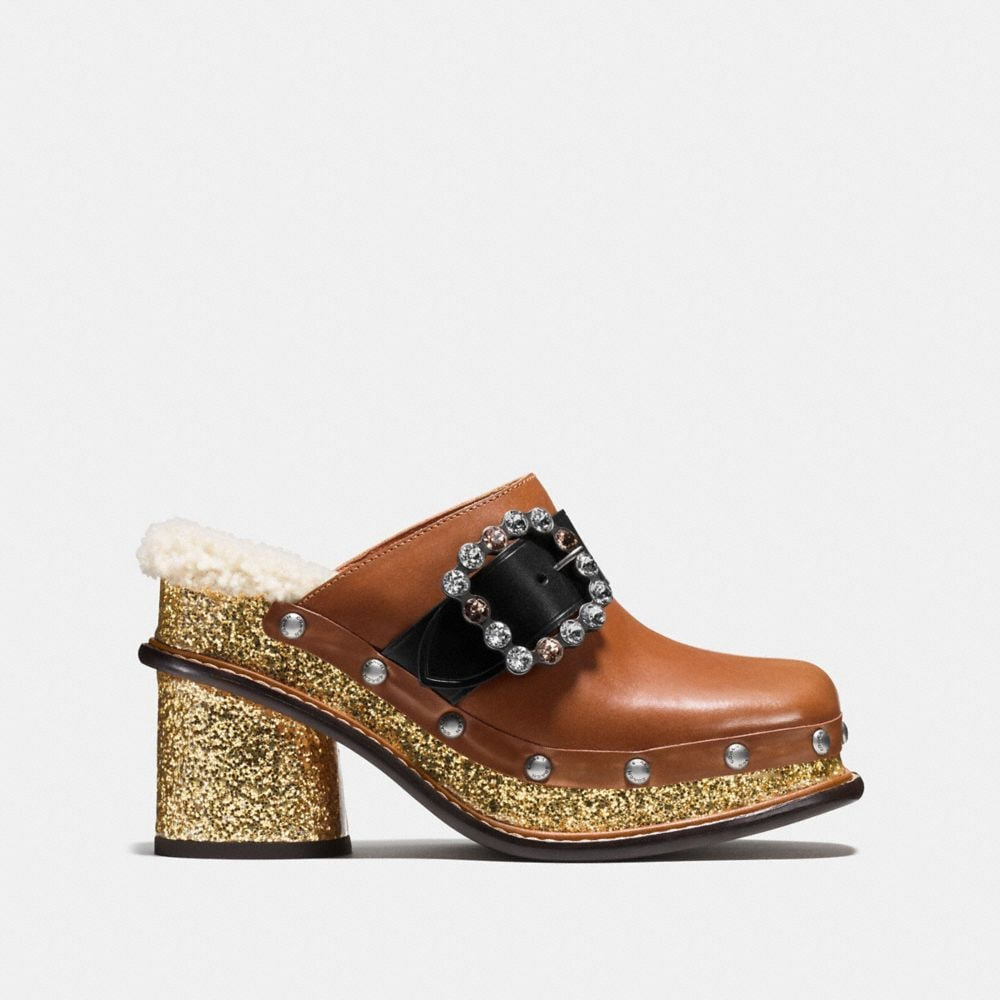 Coach Clog Slide With Glitter Heel Alternate View 1