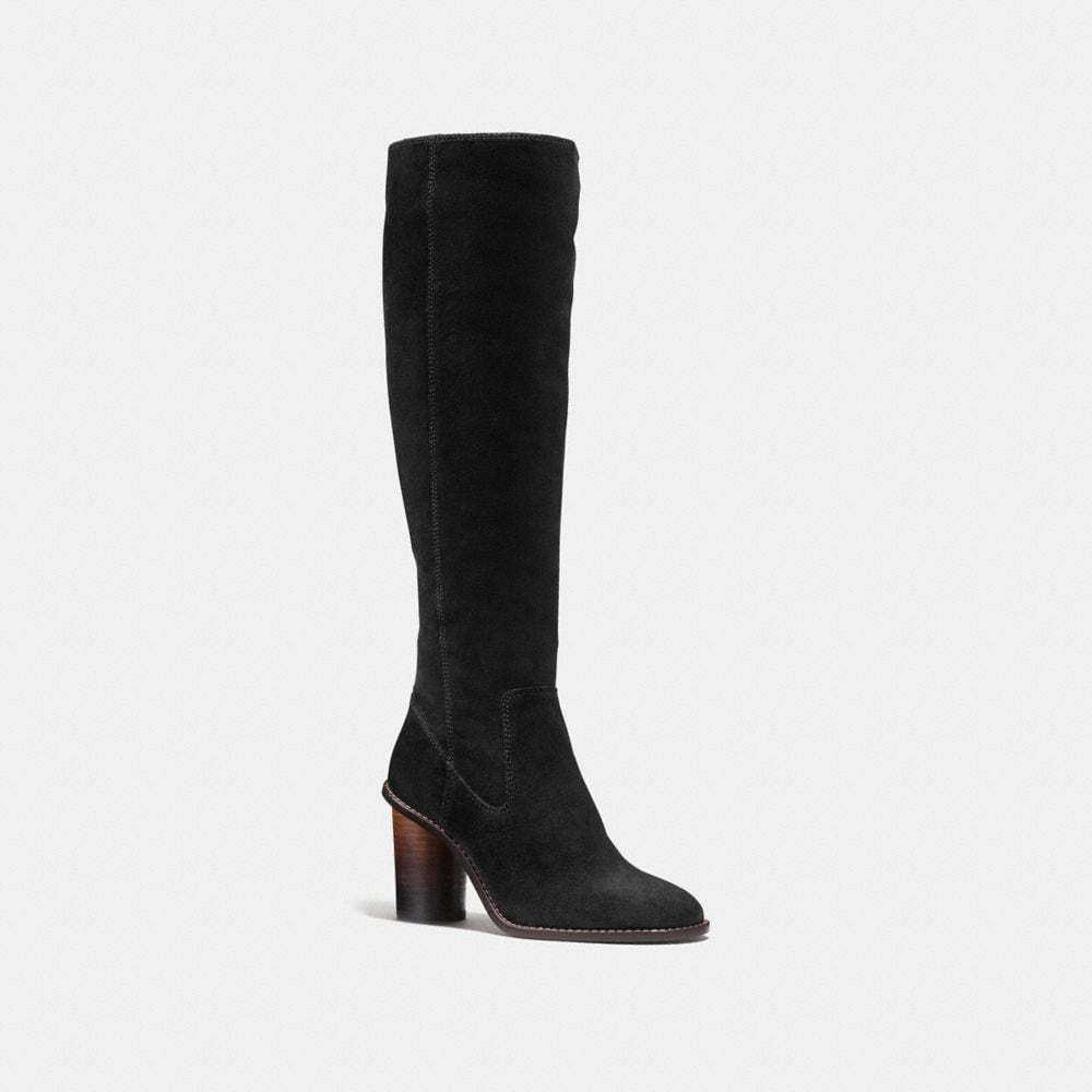 Coach Leather Knee-High Boots