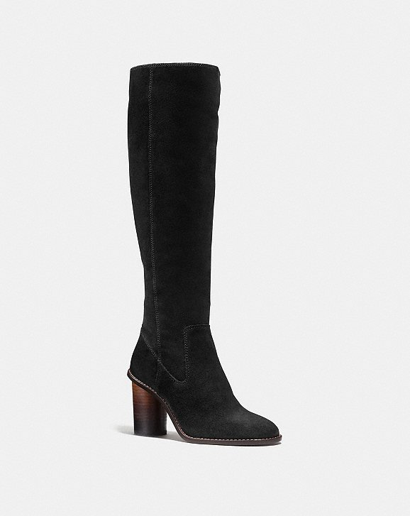 Coach Logo Knee-High Boots largest supplier cheap online clearance wholesale price cheap sale Manchester YQaAtyTid