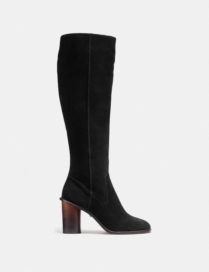 Coach Ombre Heel Boot Black  Alternate View 1