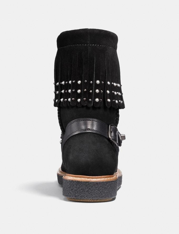 Coach Roccasin Shearling Boot Black  Alternate View 2