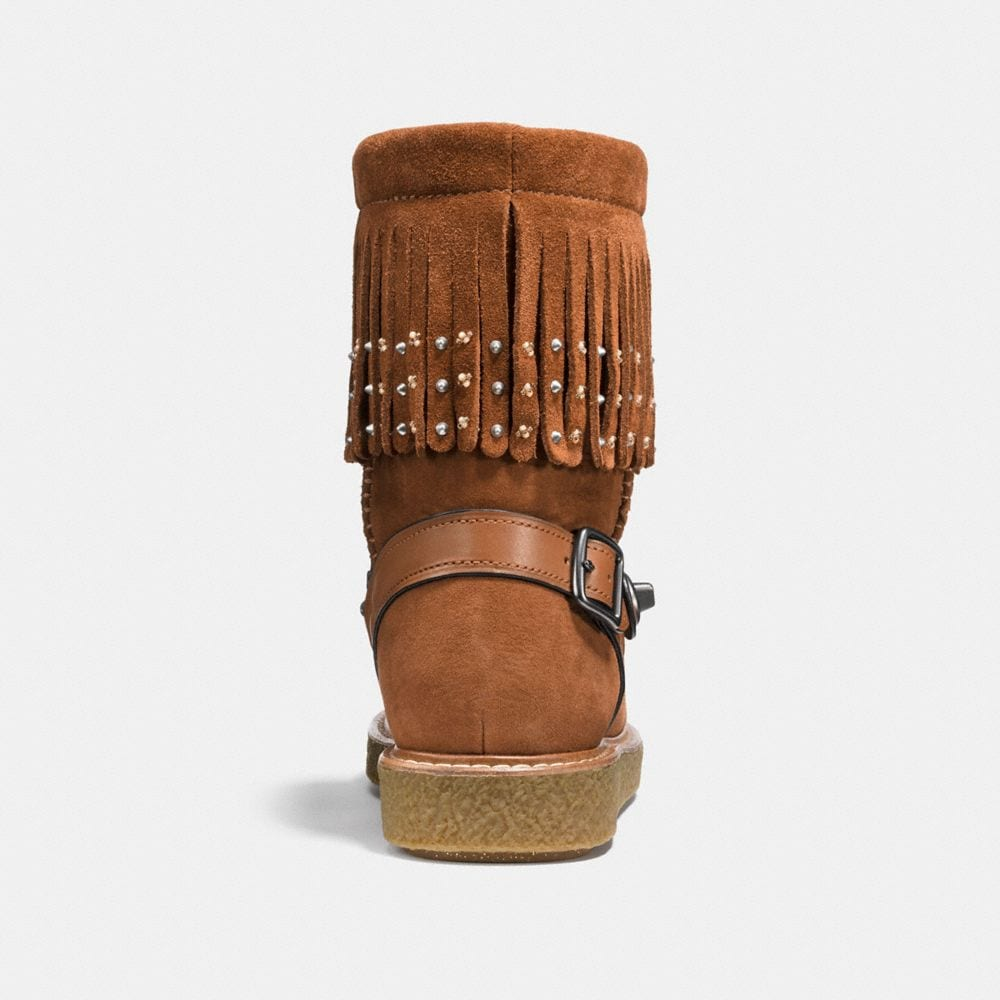 Coach Roccasin Shearling Boot With Beads Alternate View 2