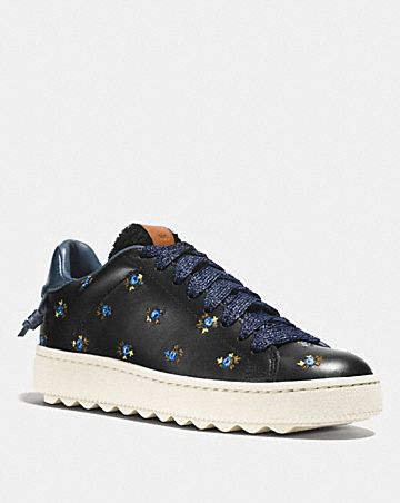 Stylish Coach Sneakers Brown Blue Pink White For Women