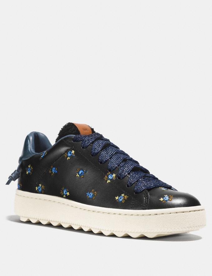 Coach C101 Low Top Sneaker Black Women Shoes Sneakers