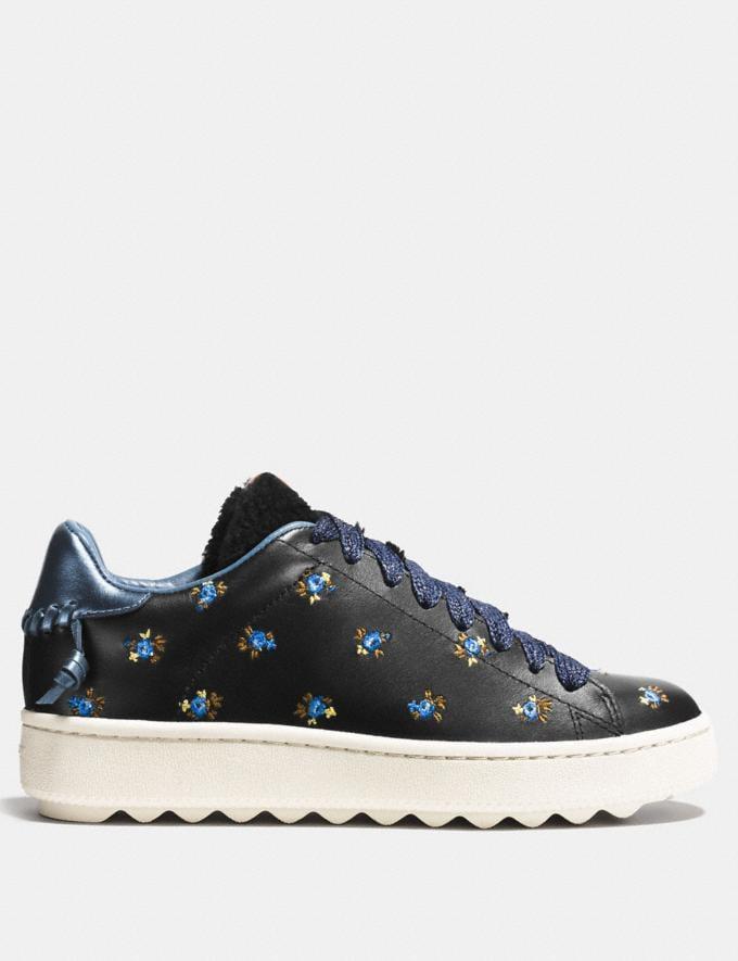 Coach C101 Low Top Sneaker Black Women Shoes Sneakers Alternate View 1