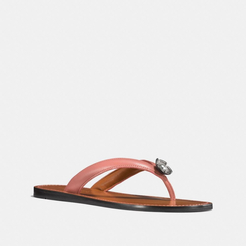 Coach Tea Rose Flip Flop