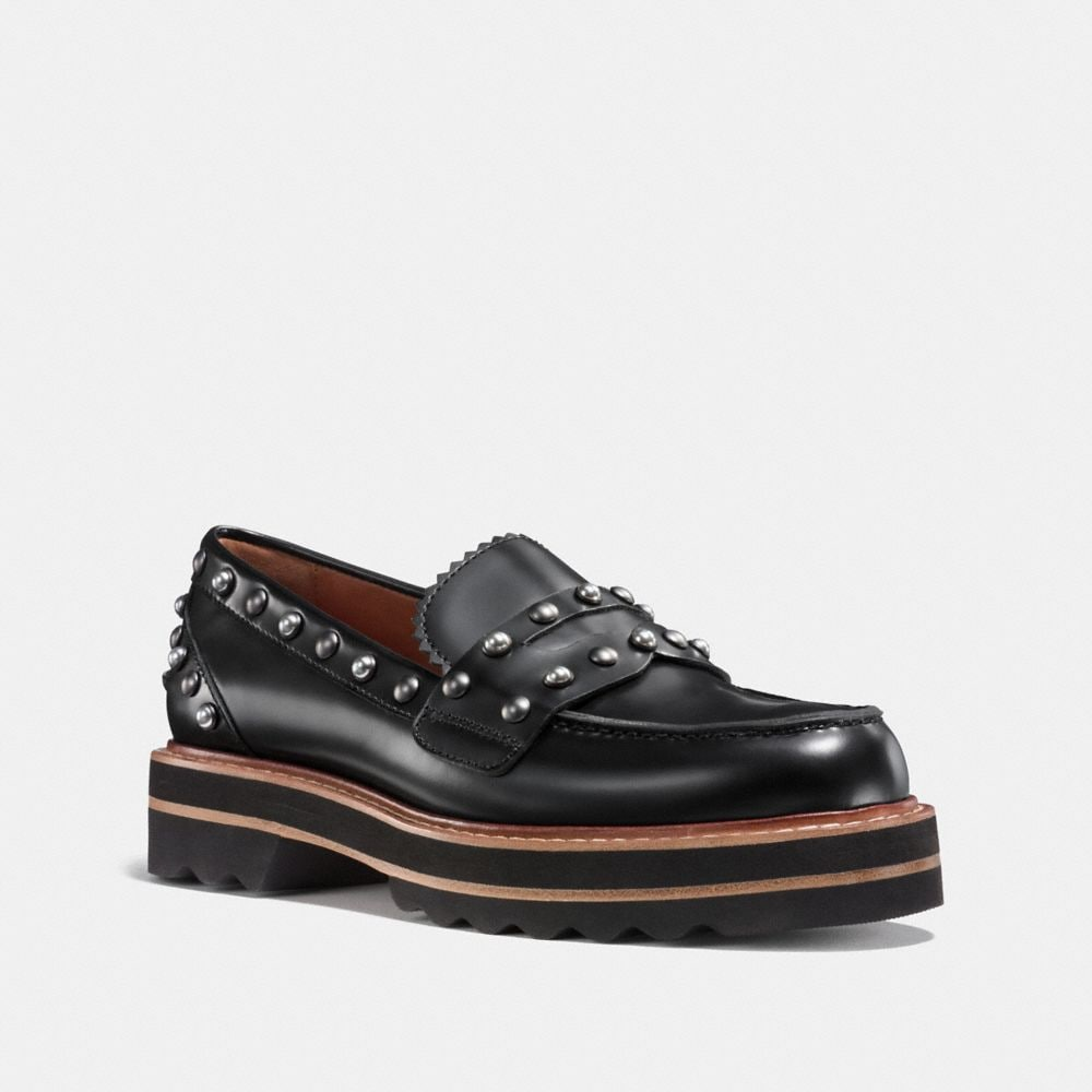 Coach Lenox Loafer With Rivets