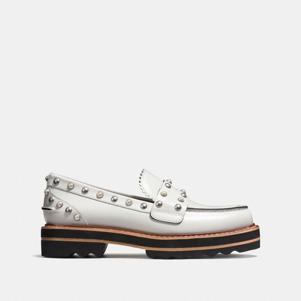 Coach Lenox Loafer With Rivets Alternate View 1