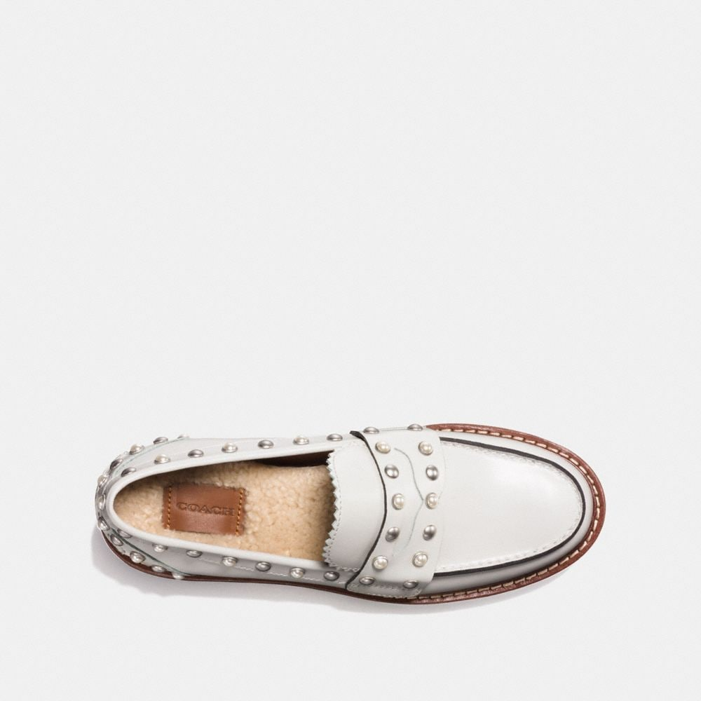 Coach Lenox Loafer With Rivets Alternate View 2