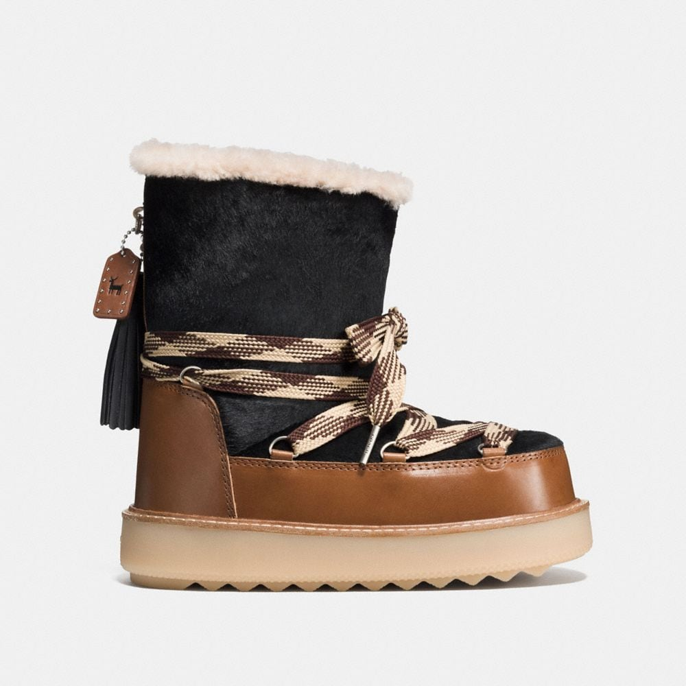 Coach Shearling Bootie in Haircalf Alternate View 1