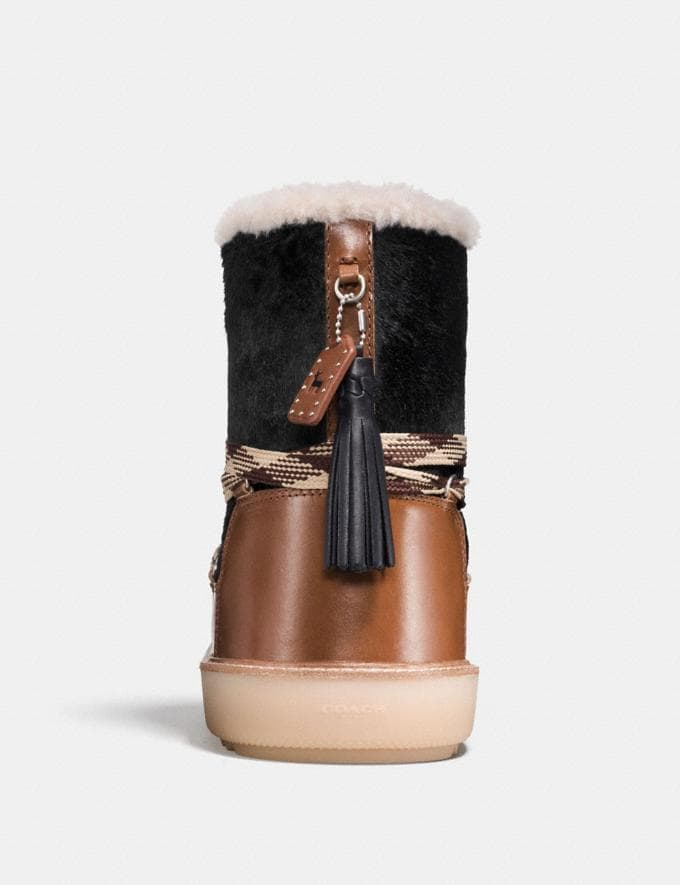 Coach Shearling Bootie in Haircalf Black/Burnt Sienna Friends & Family Sale Women's Shoes Alternate View 2