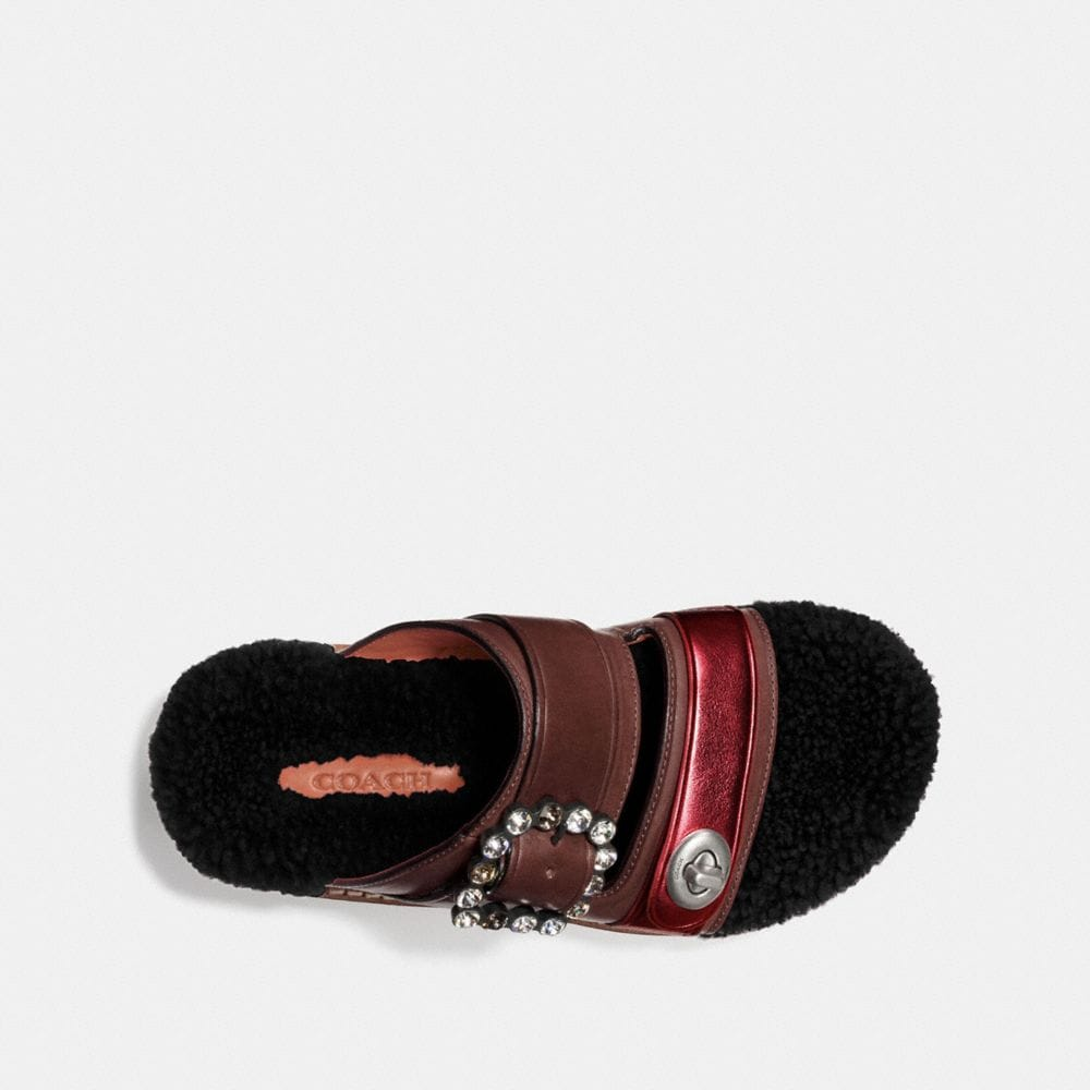 Coach Turnlock Slide With Shearling Alternate View 2