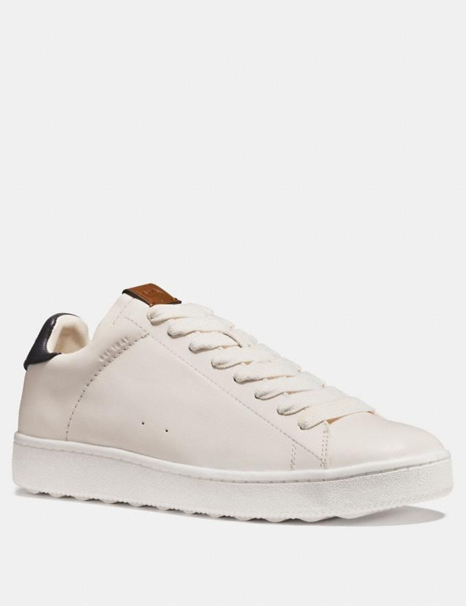 Coach C101 Low Top Sneaker White/Navy Staff Sale