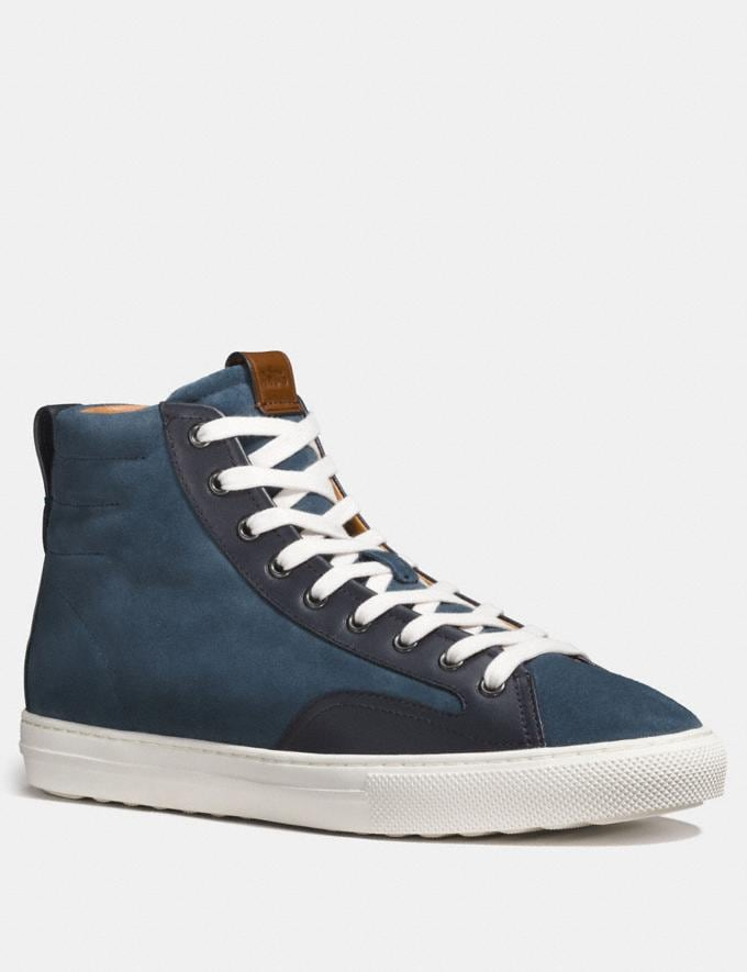 Coach C227 High Top Dusk/Midnight Navy Men Shoes Trainers