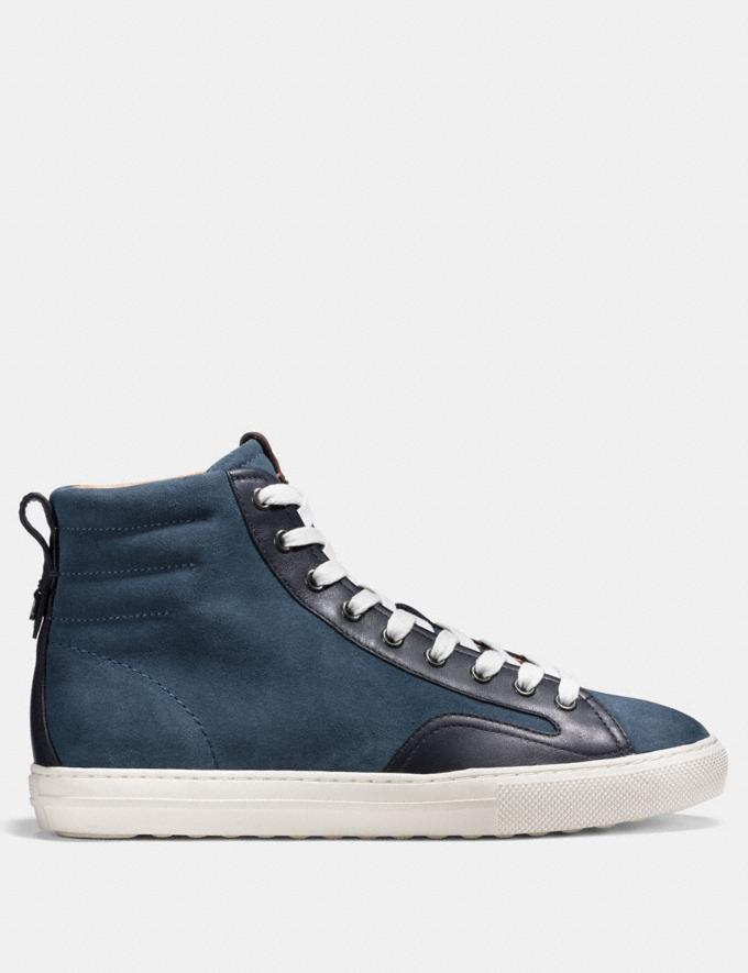 Coach C227 High Top Dusk/Midnight Navy Men Shoes Trainers Alternate View 1