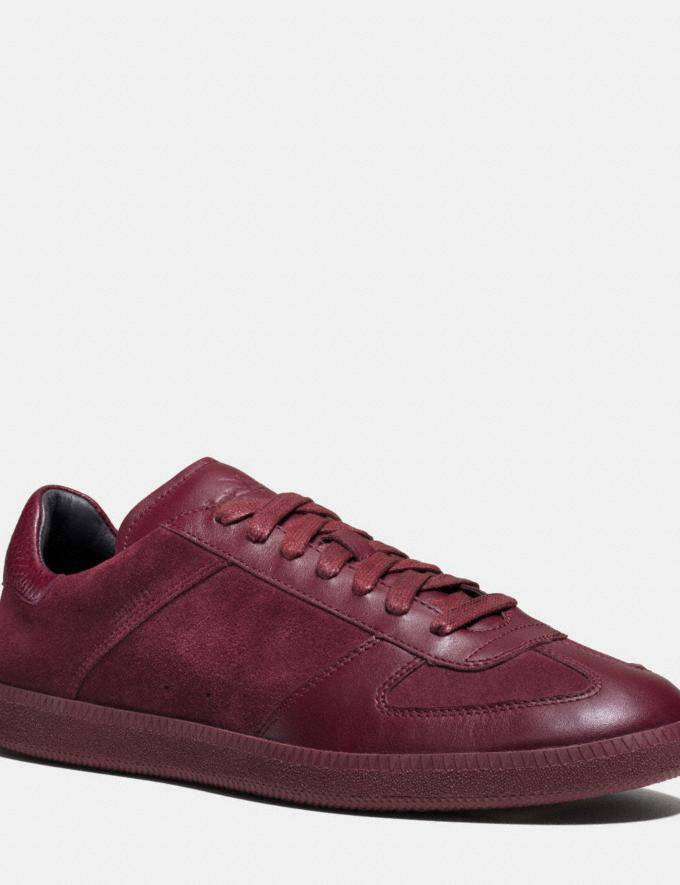 Coach C104 Sneaker Burgundy Men Shoes Sneakers