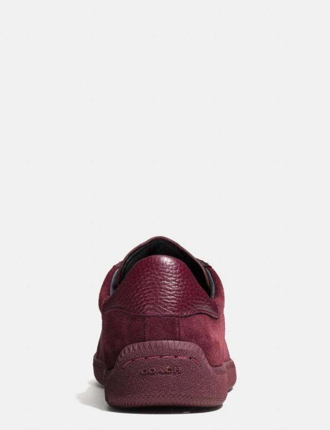 Coach C104 Sneaker Burgundy Men Shoes Sneakers Alternate View 3