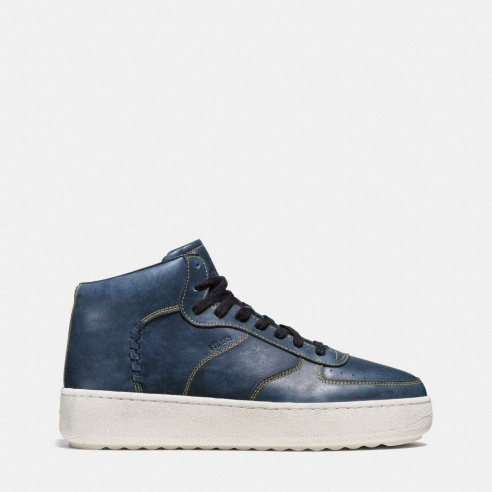 Coach Contrast Stitch C210 High Top Sneaker Alternate View 1