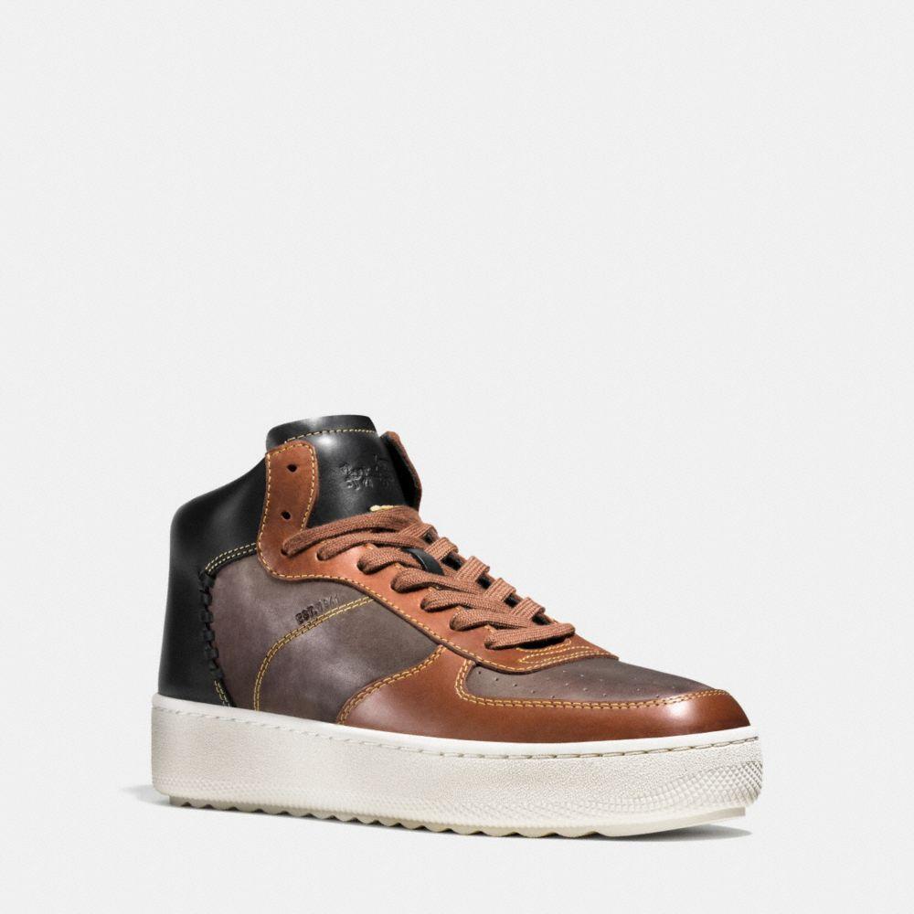 Coach Patchwork C210 High Top Sneaker