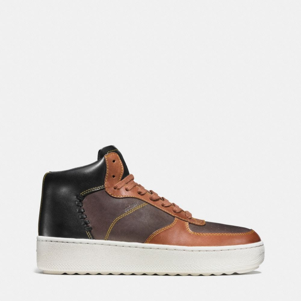 Coach Patchwork C210 High Top Sneaker Alternate View 1