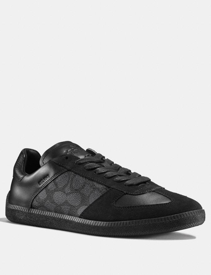 Coach C104 Sneaker in Signature Navy Men Shoes Trainers