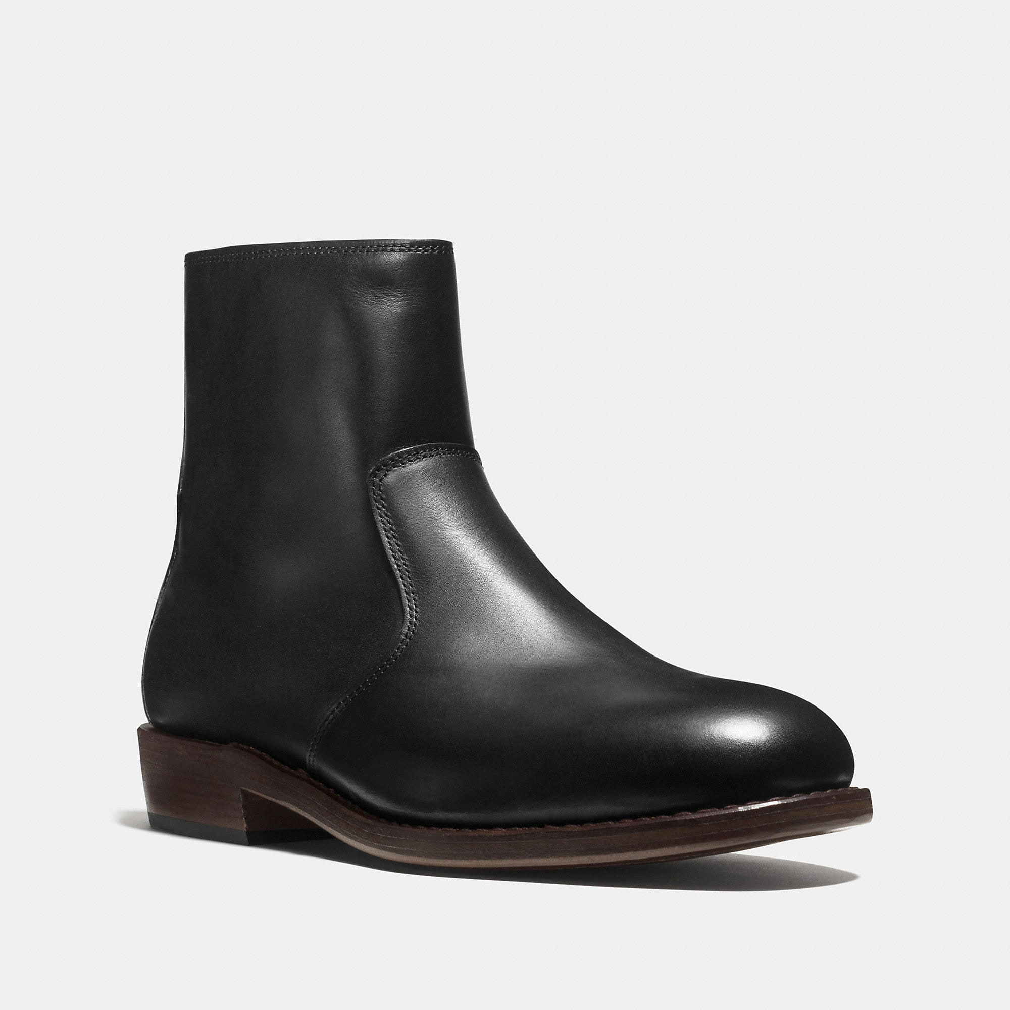 Coach West Leather Zip Boot