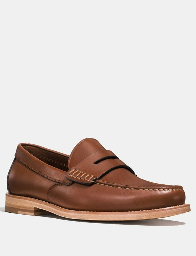Coach Manhattan Loafer Dark Saddle