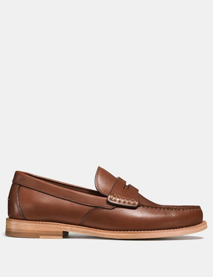 Coach Manhattan Loafer Dark Saddle  Alternate View 1