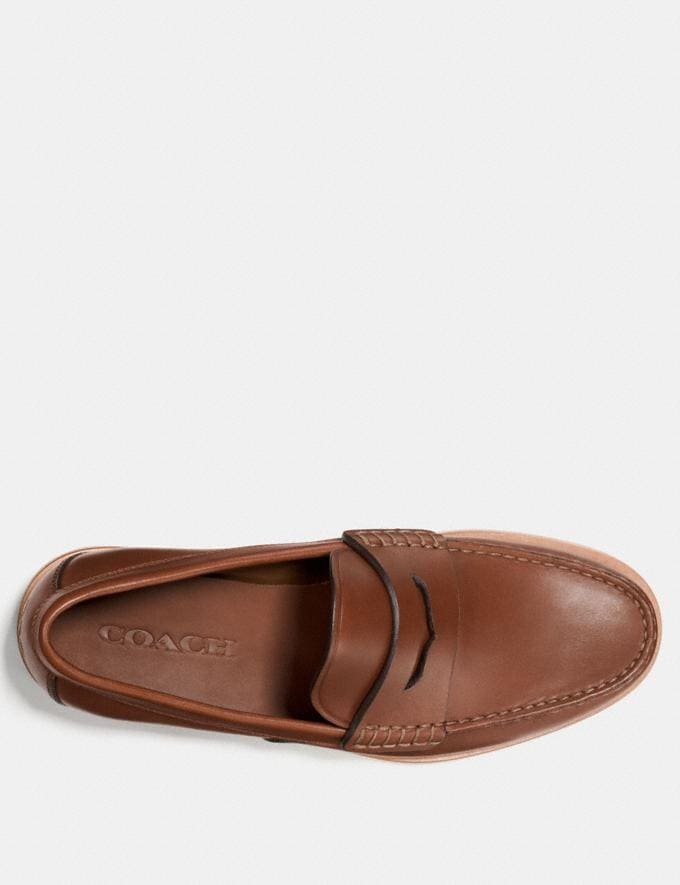 Coach Manhattan Loafer Dark Saddle  Alternate View 2