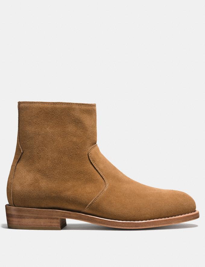 Coach West Suede Zip Boot Camel Men Shoes Boots Alternate View 1