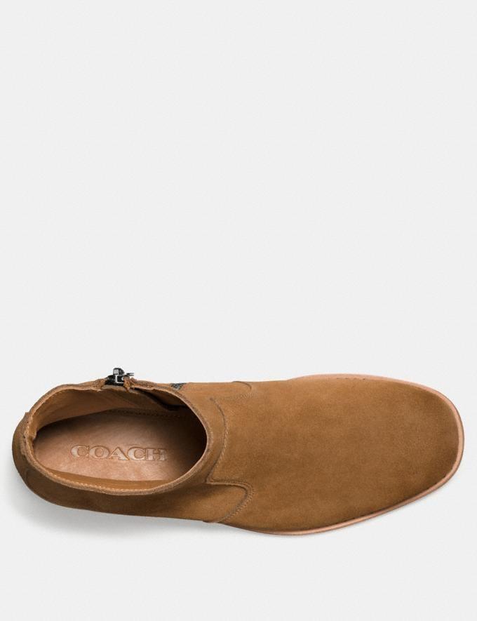 Coach West Suede Zip Boot Camel Men Shoes Boots Alternate View 2