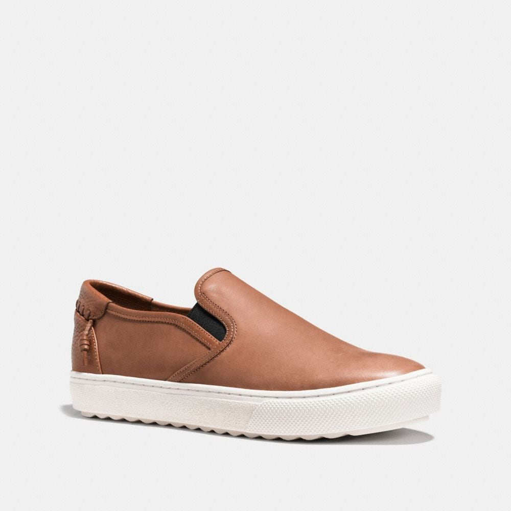 Coach C115 Leather Slip on Sneaker