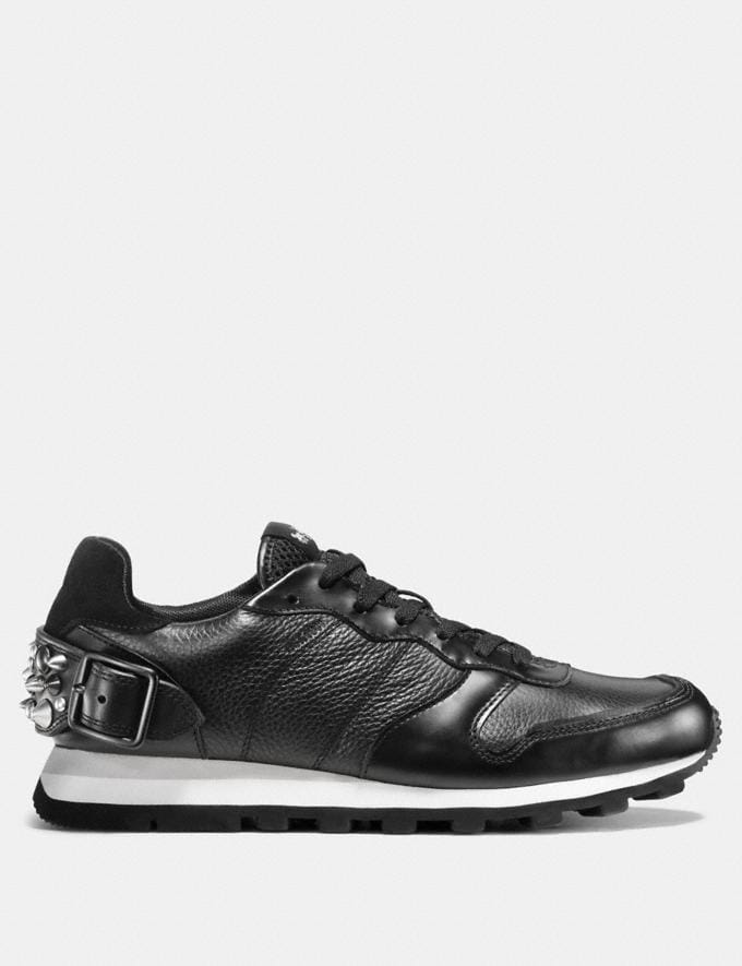 Coach C118 Rivet Sneaker Black Men Shoes Trainers Alternate View 1