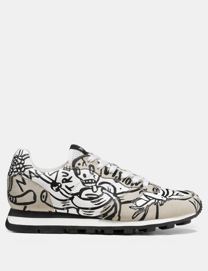 Coach C118 in Printed Leather Chalk Men Shoes Trainers Alternate View 1