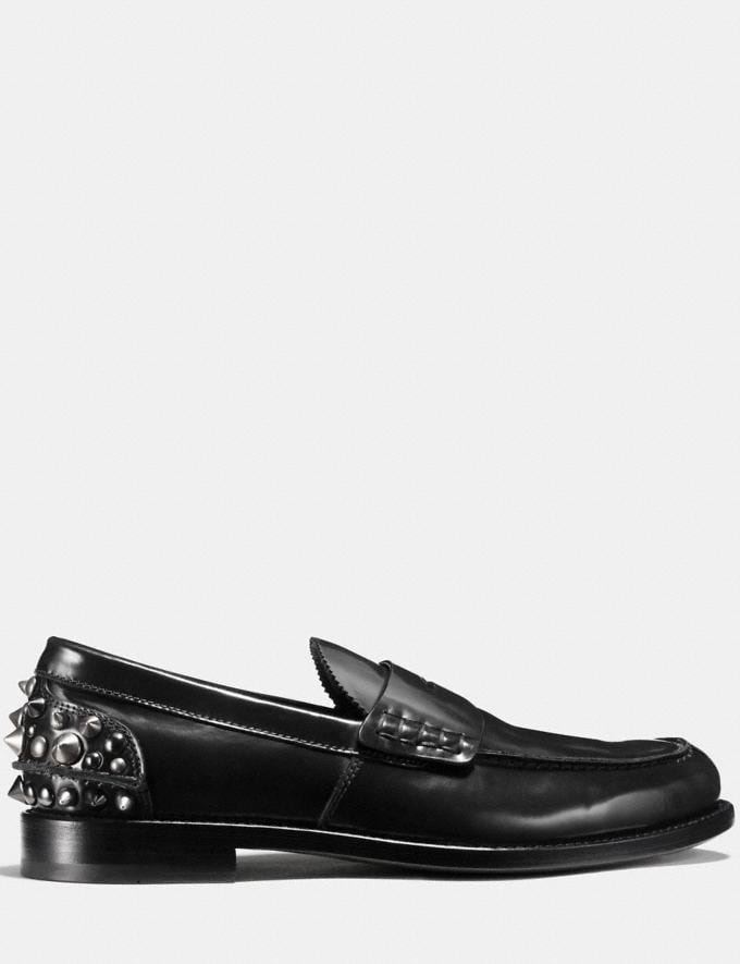 Coach Studded Loafer Black Men Shoes Smart Casual Alternate View 1